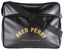 Fred Perry Arch Branded Shoulder Bag Black