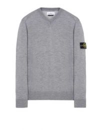 Stone Island 538C4 V-Neck Lightweight Wool Sweater V0061