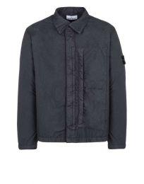 Stone Island Q1223 Garment Dyed Crinkle Reps NY Light Overcoat V0026