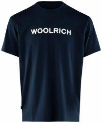 Woolrich Logo Tee WOTE0024 Melton Blue