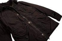 C.P. Company Double-Dyed 50 Fili Goggle Jacket Black