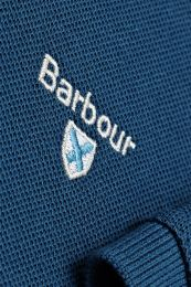 Barbour Tartan Pique Polo Shirt Deep Blue