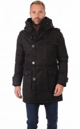 Nobis Shelby Men´s Military Parka Crosshatch Black