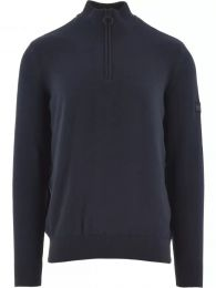 Barbour International Cotton Half-Zip Sweatshirt Navy