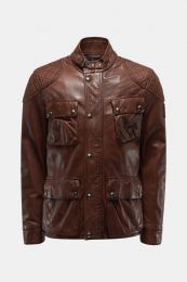 Belstaff Leather jacket Fieldbrook 2.0 Walnut