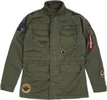 Alpha Industries Huntington Patch M-65 Jacket Dark Olive