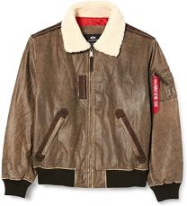 Alpha Industries Injector III Leather Vintage Brown