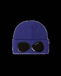 C.P. Company Merino Wool Goggle Beanie Blue