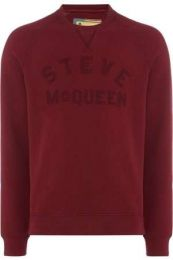 Barbour Steve McQueen Merchant Crew Sweat Burgundy