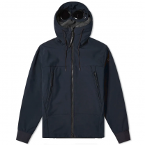 C.P. Company Soft Shell Hooded Jacket Navy