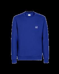 C.P. Company Diagonal Raised Fleece Logo Sweatshirt Blue