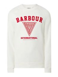 Barbour Internationa Sweatshirt Logo Print Offwhite