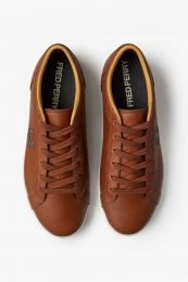 Fred Perry Authentic Baseline Leather Sneaker Tan