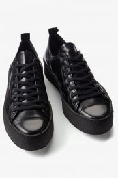 Fred Perry x George Cox Pop Boy Leather Black