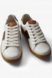 Fred Perry Authentic B721 Leather Sneaker LIght Ecru