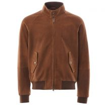 Baracuta G9 Harrington Jacket Winter Suede Tobacco