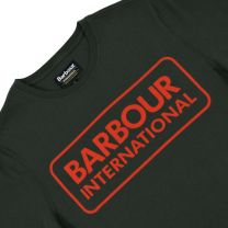 Barbour International Essential Large Logo T-Shirt Jungle Green
