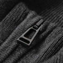 Belstaff Bay Knit Half Zip Charcoal