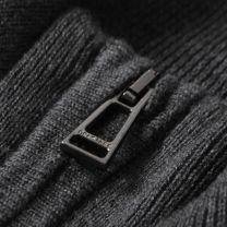 Belstaff Bay Knit Half Zip Charcoal
