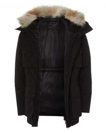 Belstaff Expedition Hooded Jacket Black