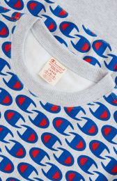 Champion Reverse Weave Allover C Logo Print Sweatshirt Grey Marl
