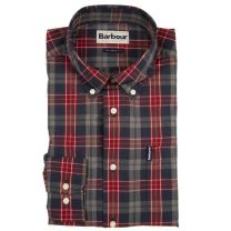 Barbour Highland Check Tailored Shirt Crimson Check