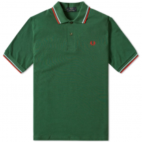 Fred Perry Reissues Original Twin Tipped Polo Tartan Green, Ice & Red