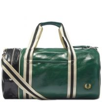 Fred Perry Classic Barrel Bag Tartan Green & Black