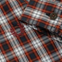 Fred Perry Shirt Tartan Rosewood