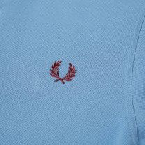 Fred Perry Authentic Slim Fit Twin Tipped Polo Riviera & Maroon