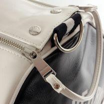 Fred Perry Colour Block Barrel Bag White Black