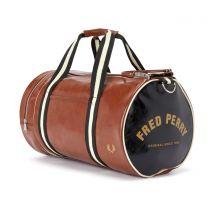 Fred Perry Colour Block Barrel Bag Tan Black