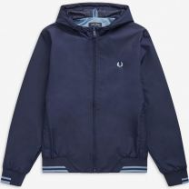 Fred Perry Hooded Brentham Jacket Carbon Blue