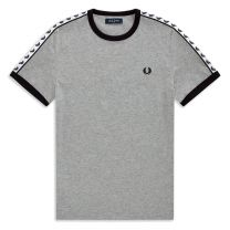 Fred Perry Authentic Taped Ringer Tee Carbon Blue