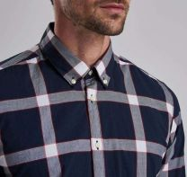Barbour International Valve Check Shirt Navy