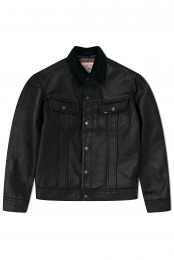 Lee 101 Leather Jacket Black L97RXC01