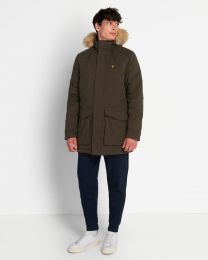 Lyle & Scott Parka Jacket With Winter Weight Microfleece Linin