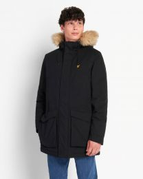 Lyle & Scott Parka Jacket With Winter Weight Microfleece Lining