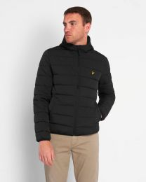 Lyle & Scott Lightweight Puffa Jacket Details Black