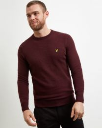 Lyle & Scott Crew Neck Lambswool Burgundy