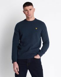Lyle & Scott Crew Neck Lambswool Dark Navy