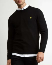 Lyle & Scott Crew Neck Lambswool True Black