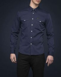 Lee 101 Western Shirt Bright Navy