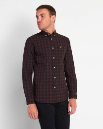 Lyle & Scott Check Poplin Shirt Burgundy