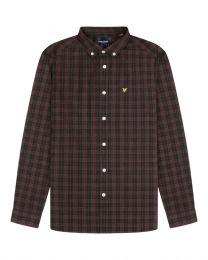 Lyle & Scott Check Poplin Shirt Burgundy
