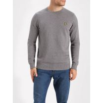 Lyle & Scott Cotton Merino Crew Neck Jumper Mid Grey Marl