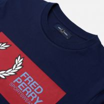 Fred Perry Sportswear Logo Tee Navy