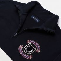 Fred Perry Authentic Shield Half Zip Sweatshirt Navy