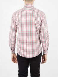 Ben Sherman Long Sleeve House Gingham Shirt Off White