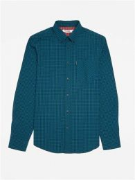 Ben Sherman Long Sleeve Tartan Check Shirt Bottle Green